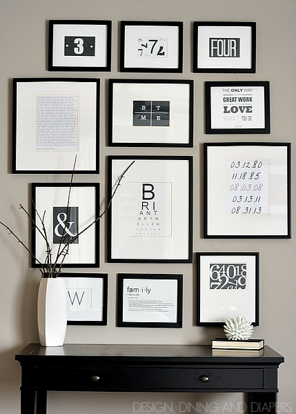 Gallery Wall Ideas Black And White : Gallery wall inspiration and tips