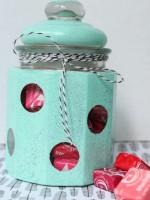 Polka Dot Candy Jar - Cute gift idea!