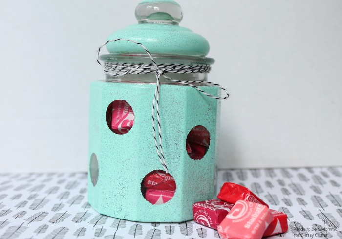 Polka Dot Candy Jar - Cute gift idea!