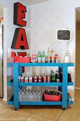 DIH Workshop with Home Depot – Rolling Beverage Cart