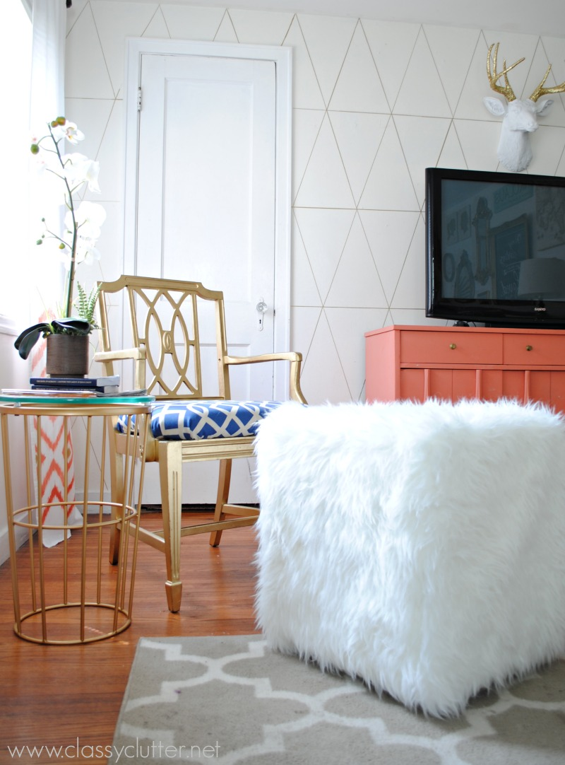 - DIY Faux Fur Ottoman Tutorial