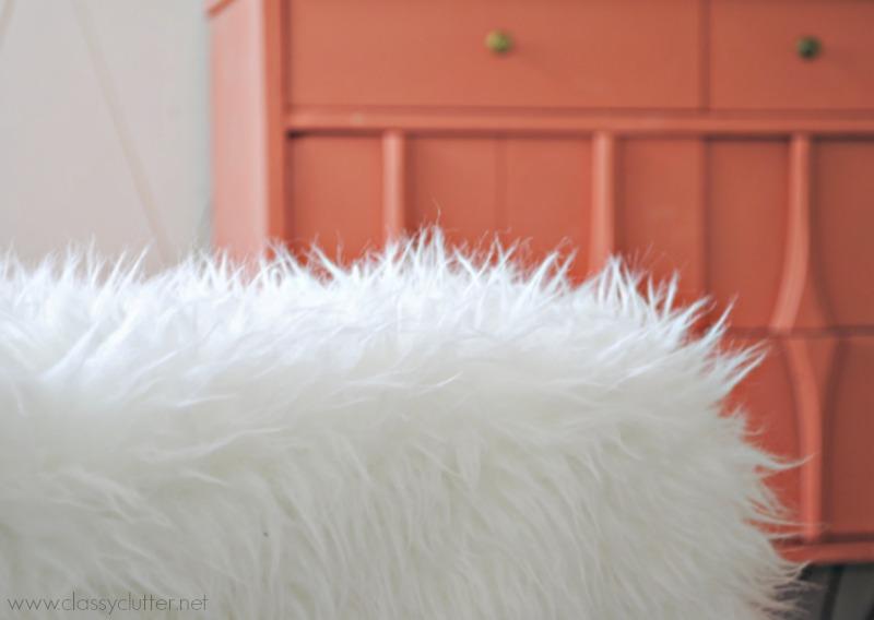 DIY Ottoman - Fur