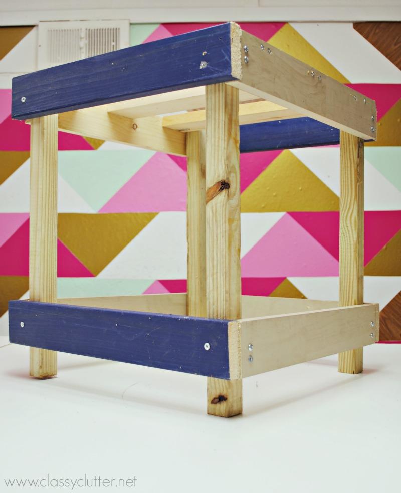 DIY Ottoman - Wood Frame