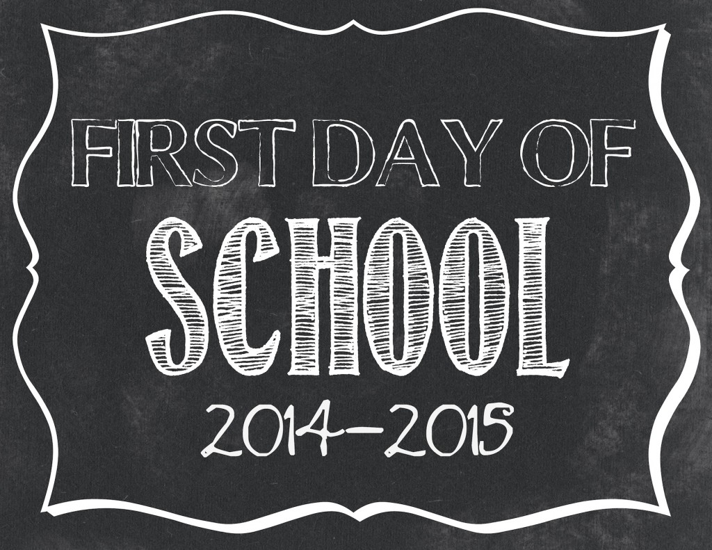 It's just an image of Effortless Printable First Day of School Sign