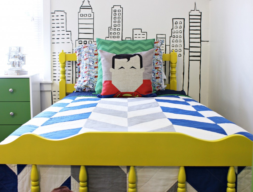 Superheroes Bedroom Modern Superhero Boys Room
