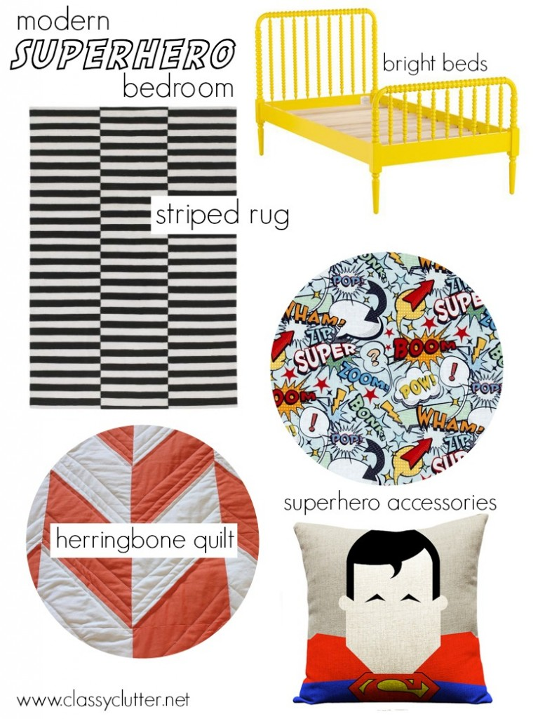 Modern Superhero Room Mood Board