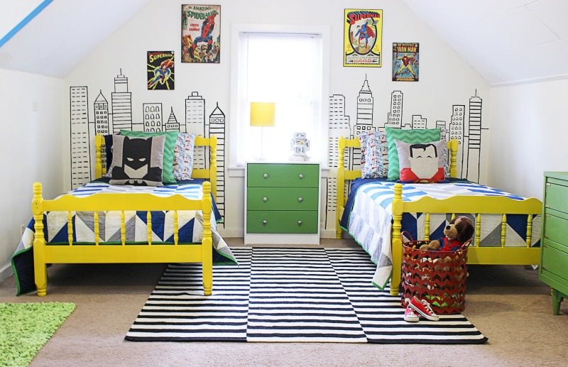 Toddler Boys Superhero Bedroom Ideas modern superhero boys room