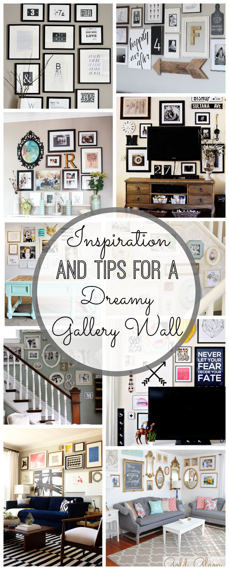 Gallery wall inspiration and tips for Picture wall layout