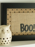 Boo! Framed Halloween Decor