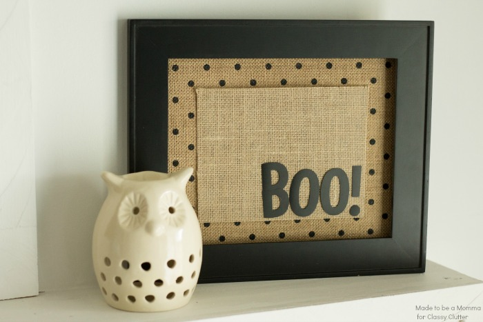 Boo! Framed Halloween Decor