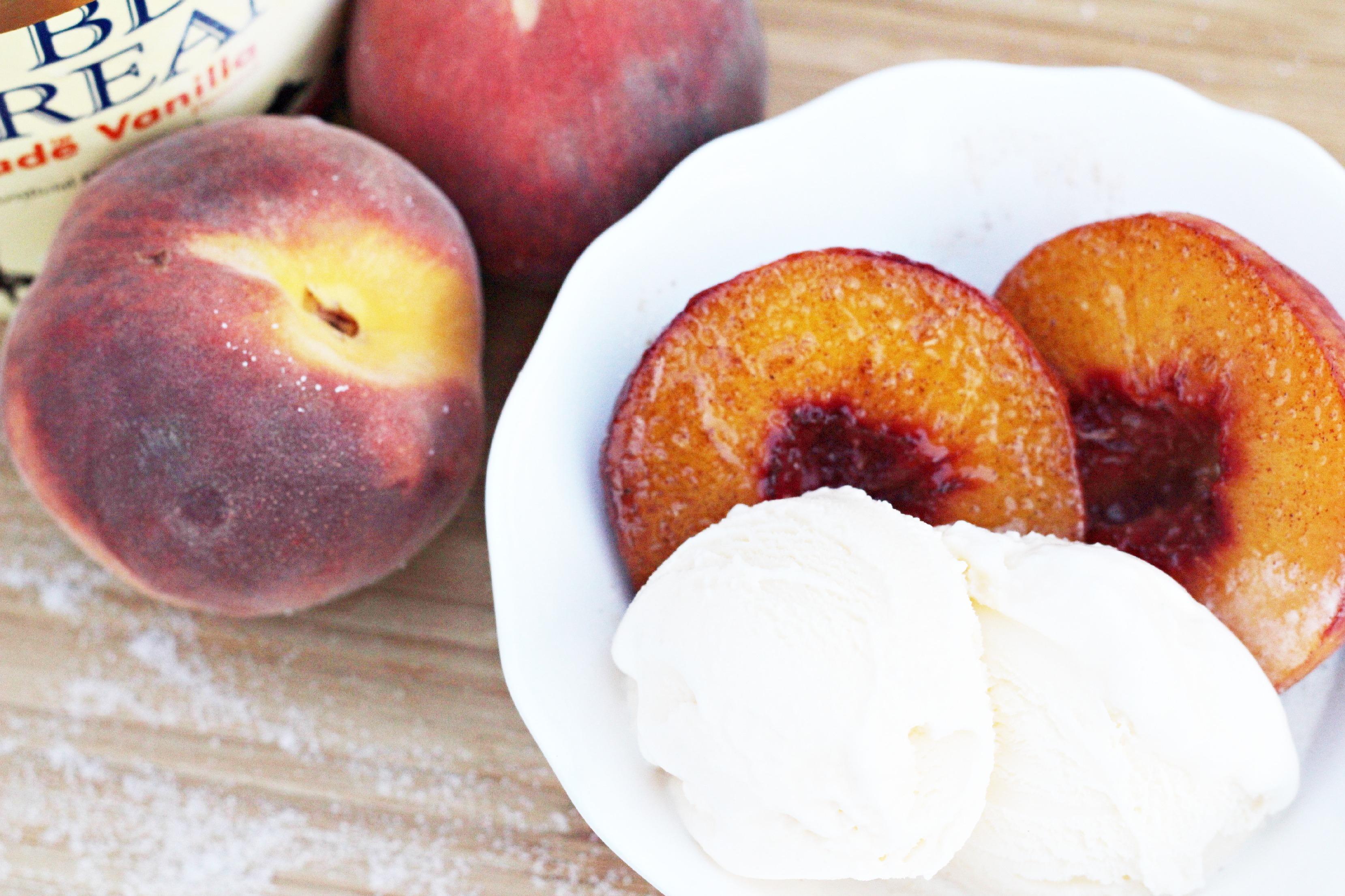 Grilled Peaches with Ice cream 2