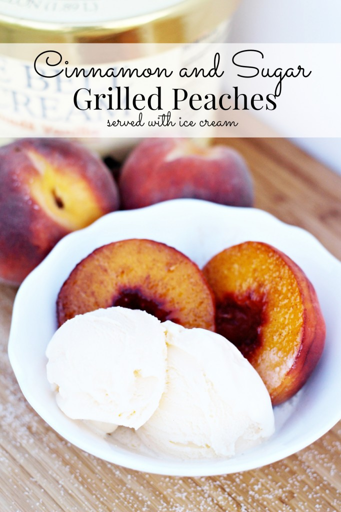 Grilled Peaches with Ice cream 3