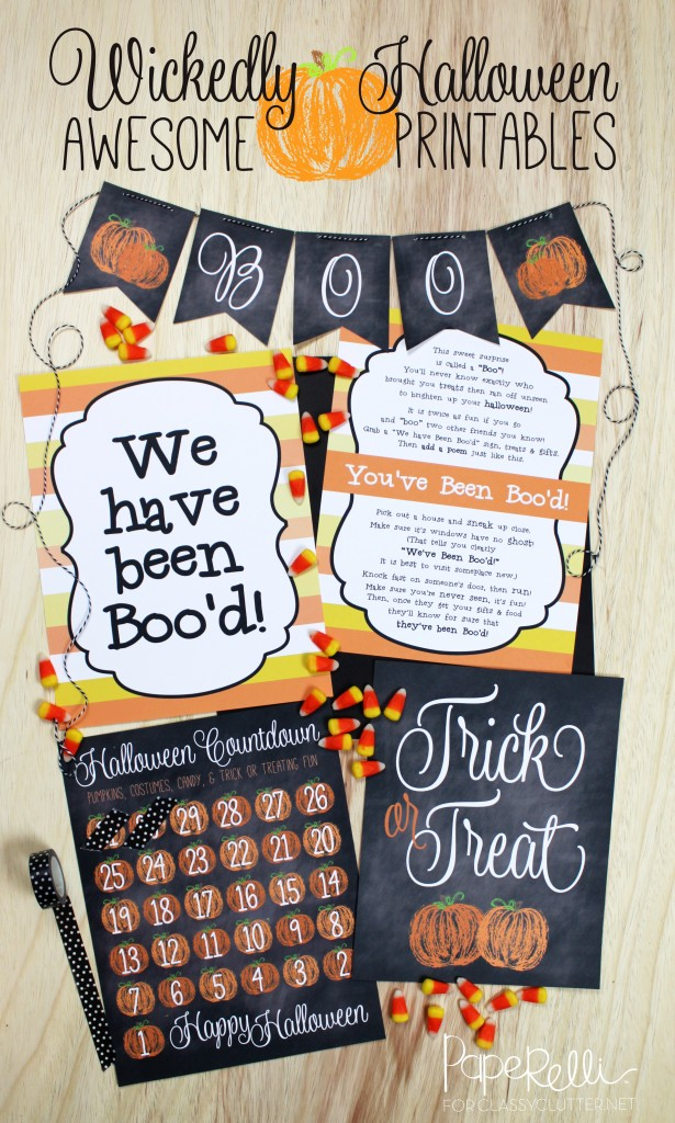 Halloween Printables by Paperelli for Classy Clutter