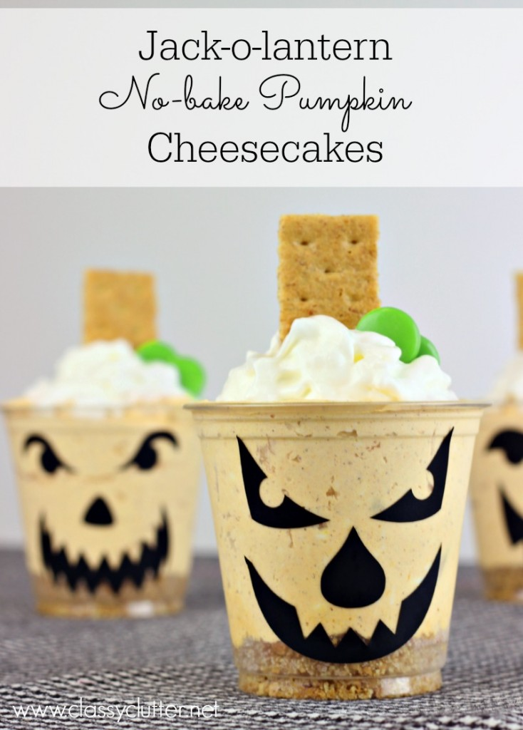 No bake Pumpkin Cheesecakes 1