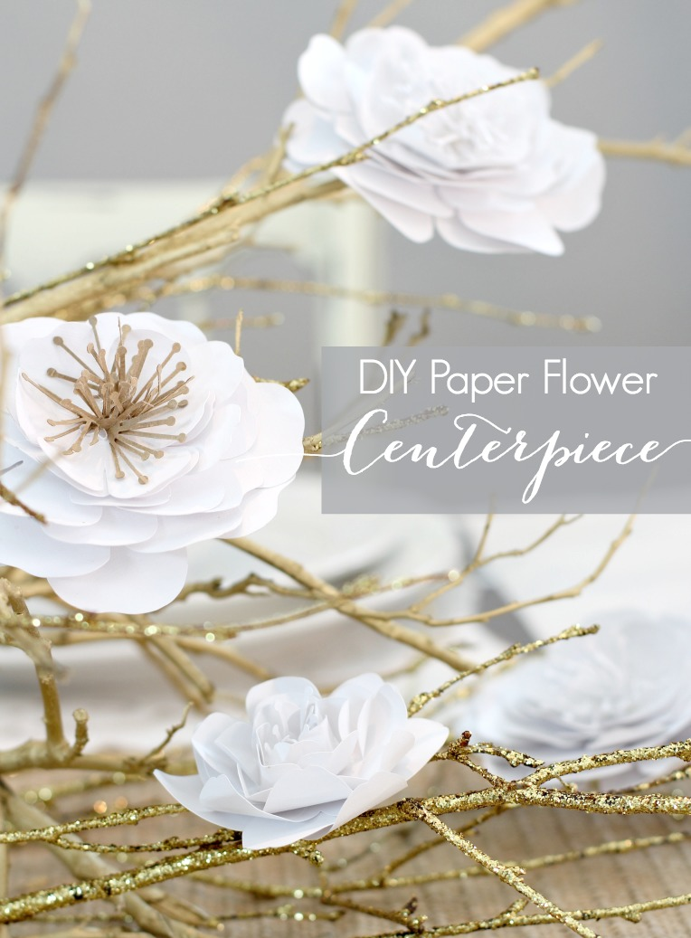 DIY Paper Flower Centerpiece 2