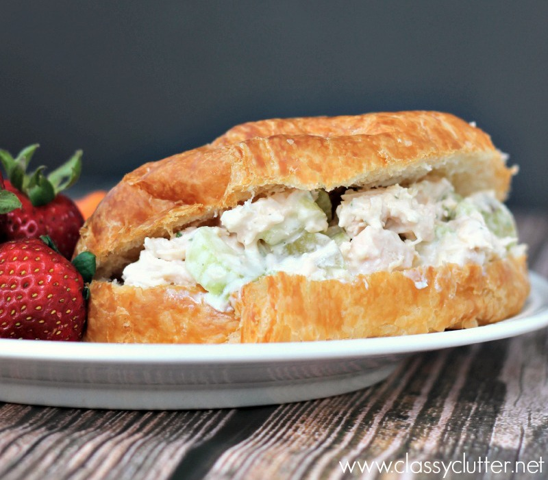 Easy and Delicious Chicken Salad Croissant - www.classyclutter.net