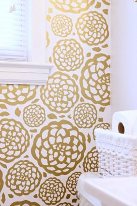 DIY Floral Faux Wallpaper