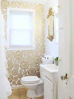 Glam Bathroom Makeover