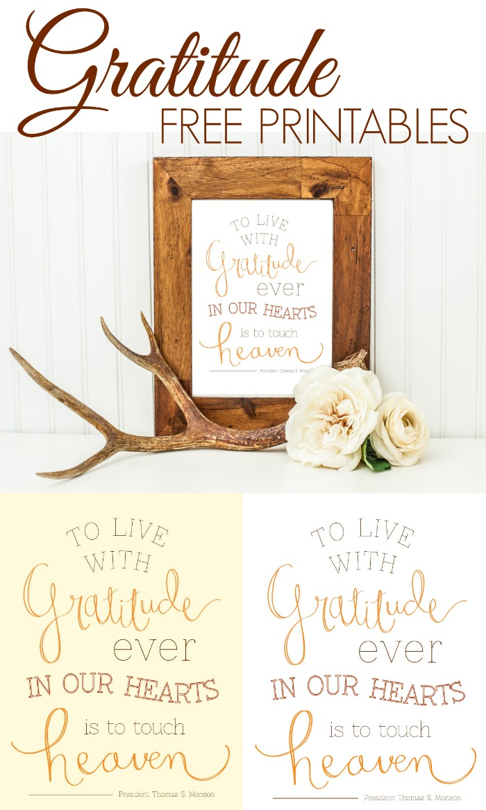 Gratitude Free Printables Classy Clutter