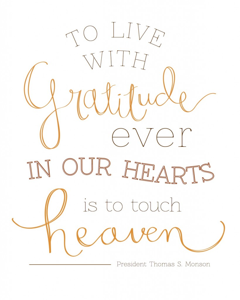 Gratitude in our Hearts - President Monson (2)