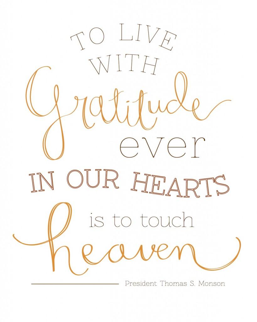 Gratitude in our Hearts - President Monson (2)