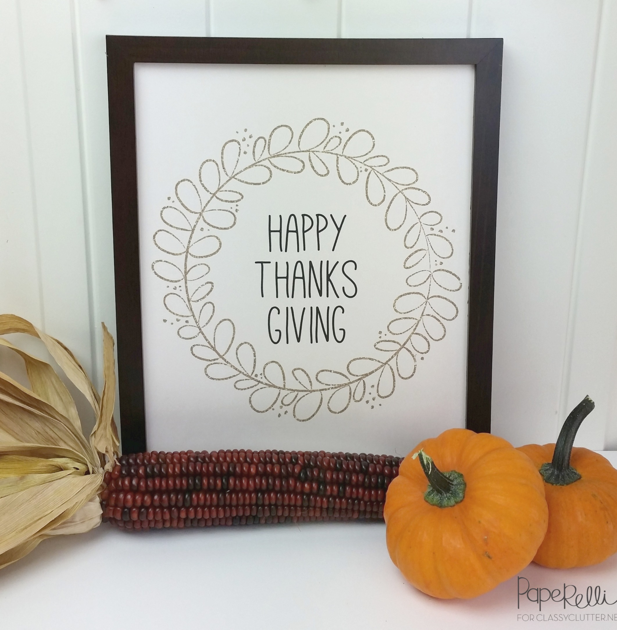 Happy Thanksgiving Printable by Paperelli