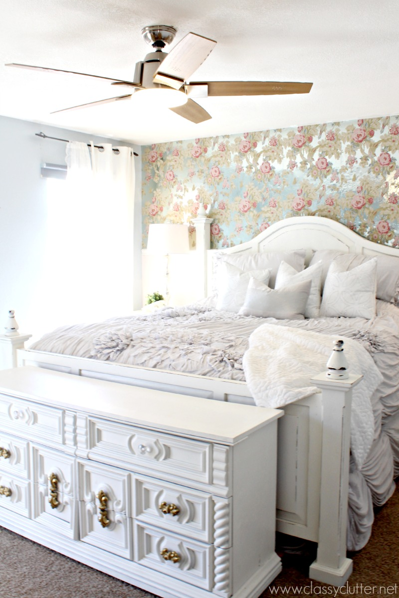 Shabby chic master bedroom makeover Diy master bedroom makeover