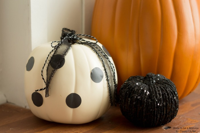 Simple Polka Dot Pumpkin