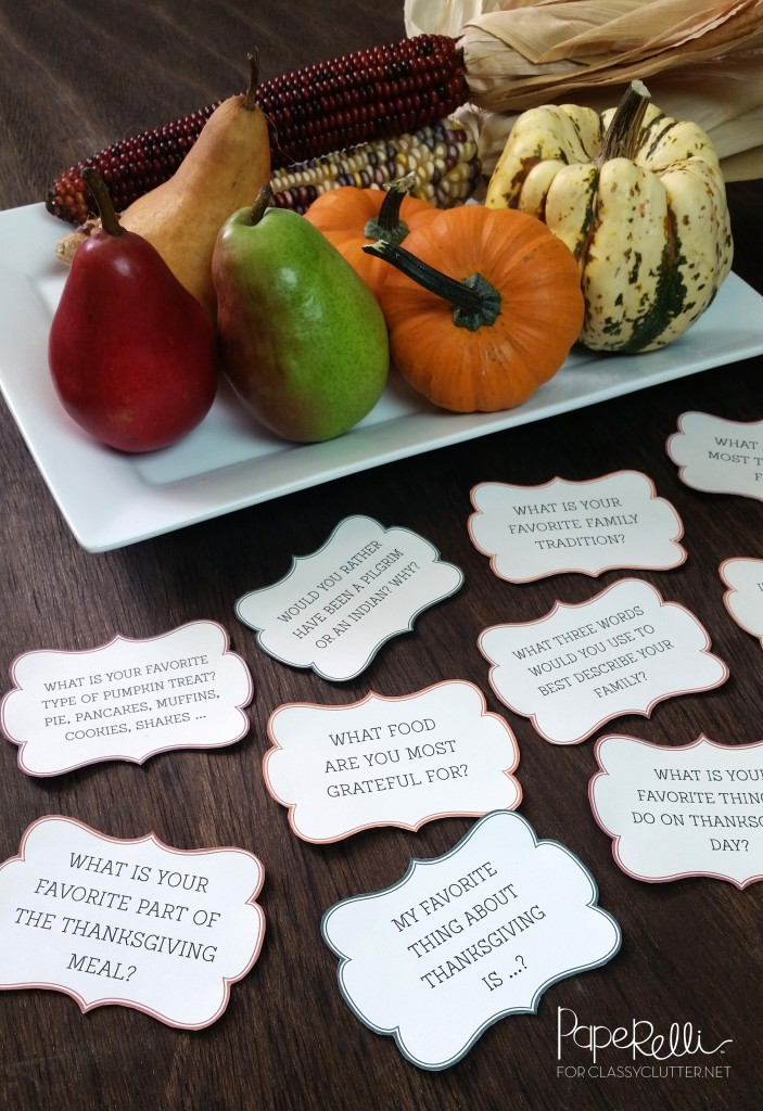Thanksgiving Place Cards by Paperelli