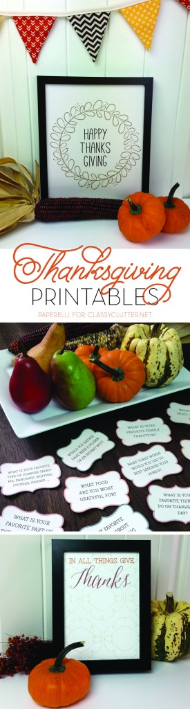 Thansgiving Free Printables by Paperelli for ClassyClutter.net