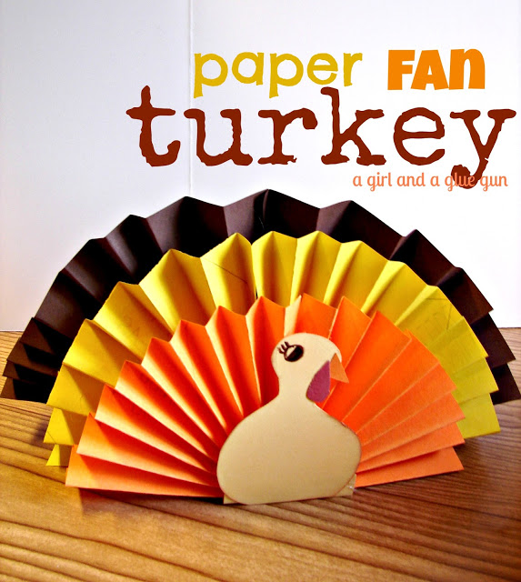 Paper Fan Turkey & 15 Thanksgiving Kids Crafts - Classy Clutter