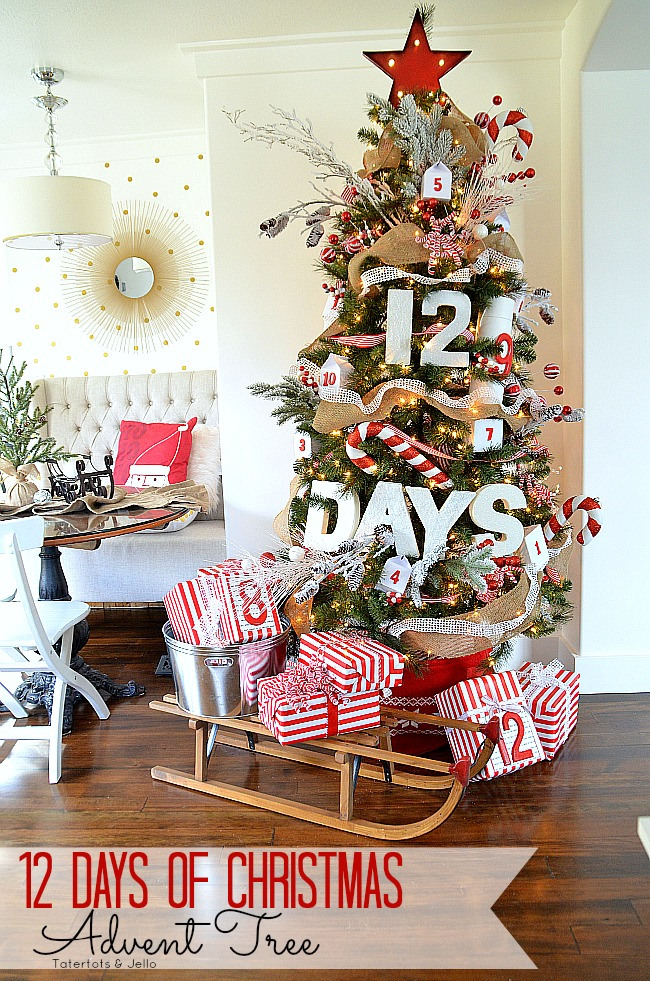 12 christmas tree decorating ideas for 12 days of christmas decoration theme