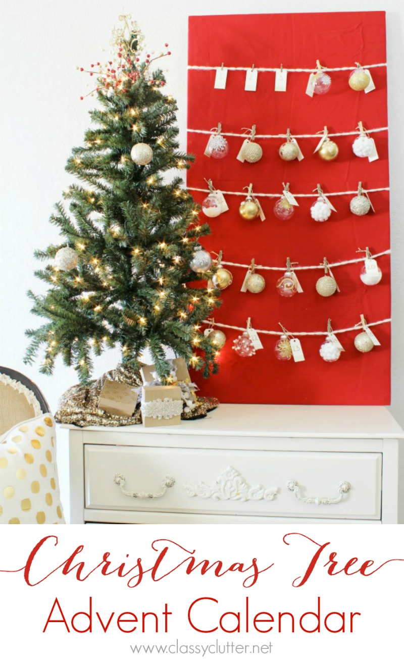 DIY Ornament Advent Christmas Tree