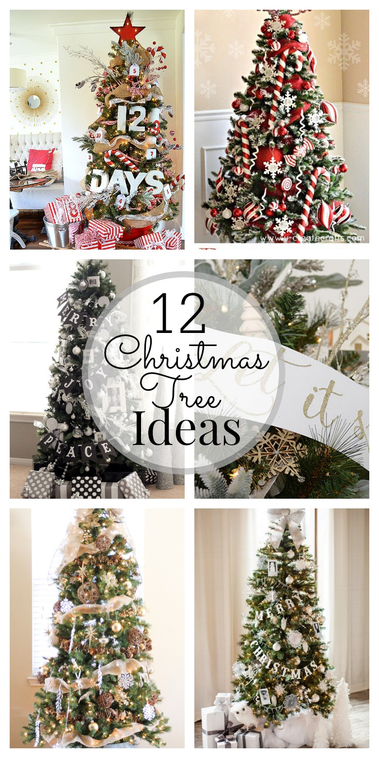 12 christmas tree decorating ideas. Black Bedroom Furniture Sets. Home Design Ideas