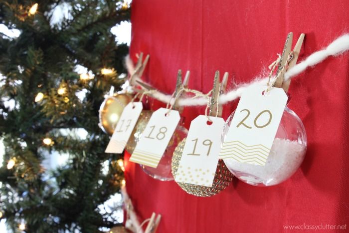 DIY Christmas Advent Calendar - cute idea with a mini tree