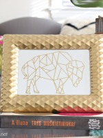 DIY Gold Foil Print - Geometric Buffalo