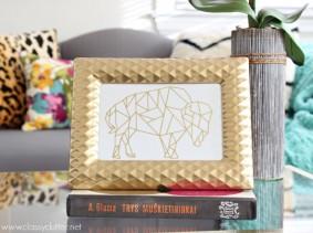 DIY Gold Foil Print
