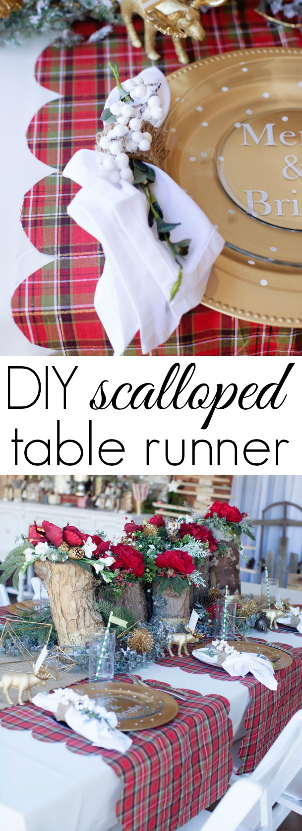 DIY Scalloped Table Runner