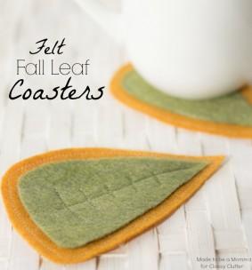 Felt Fall Leaf Coasters