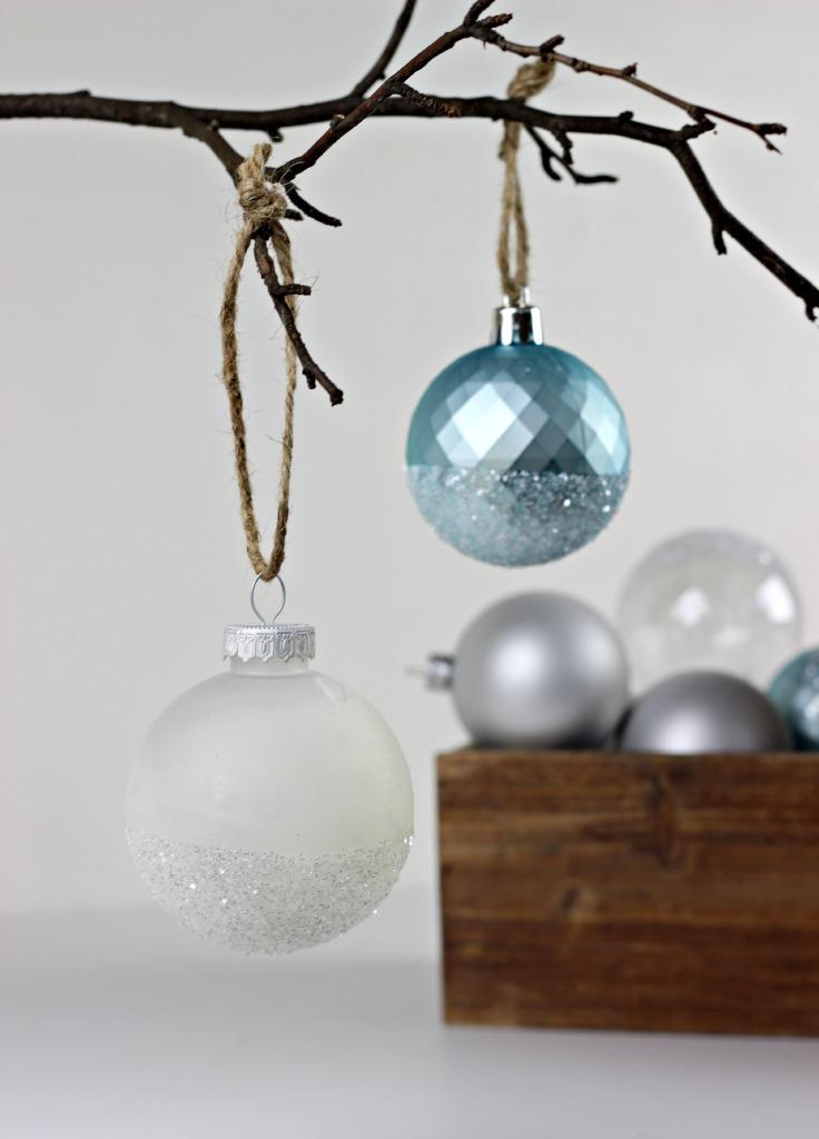 Glitter Dipped Ornaments