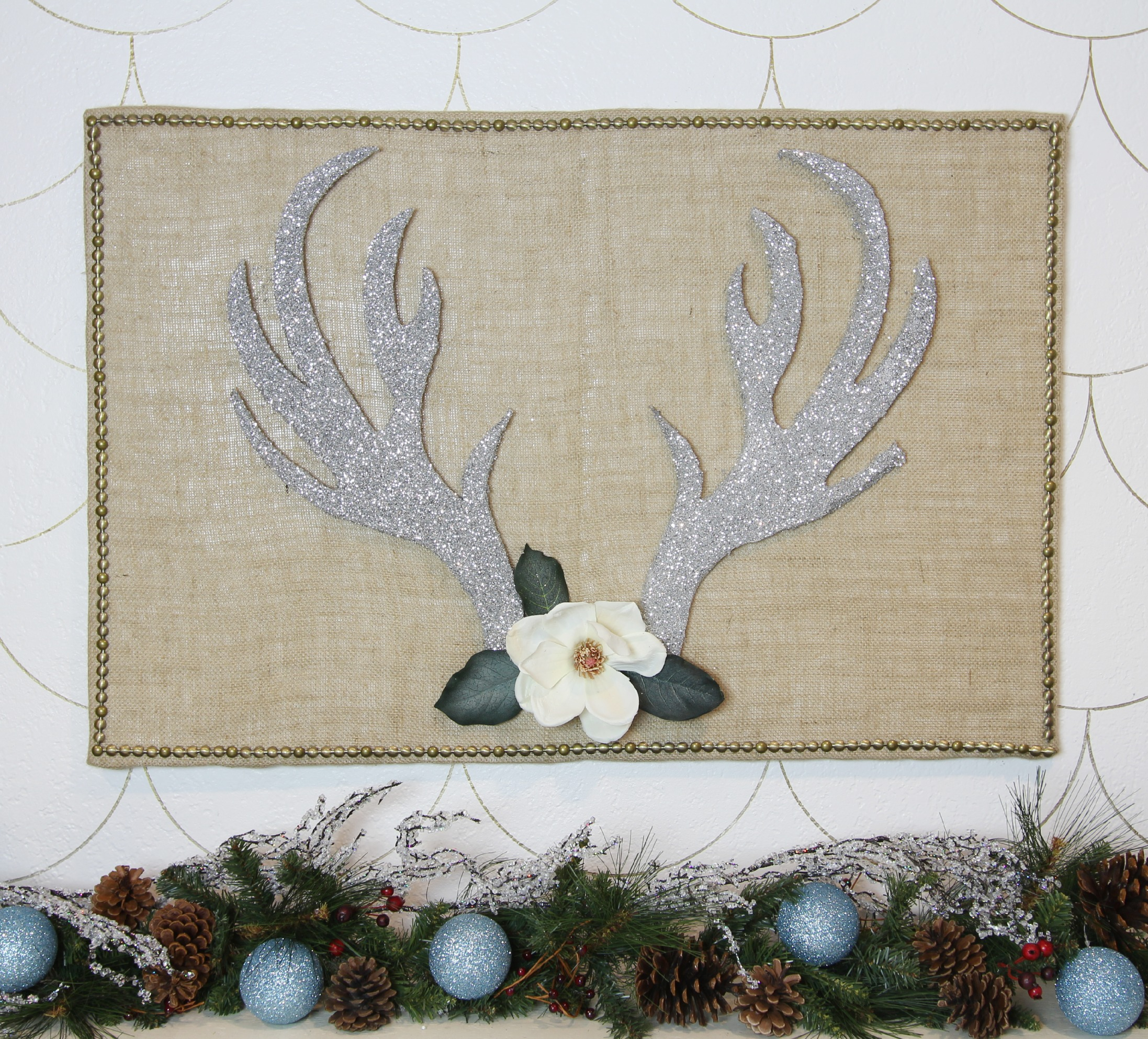 Glittered Antlers Winter Decor 6