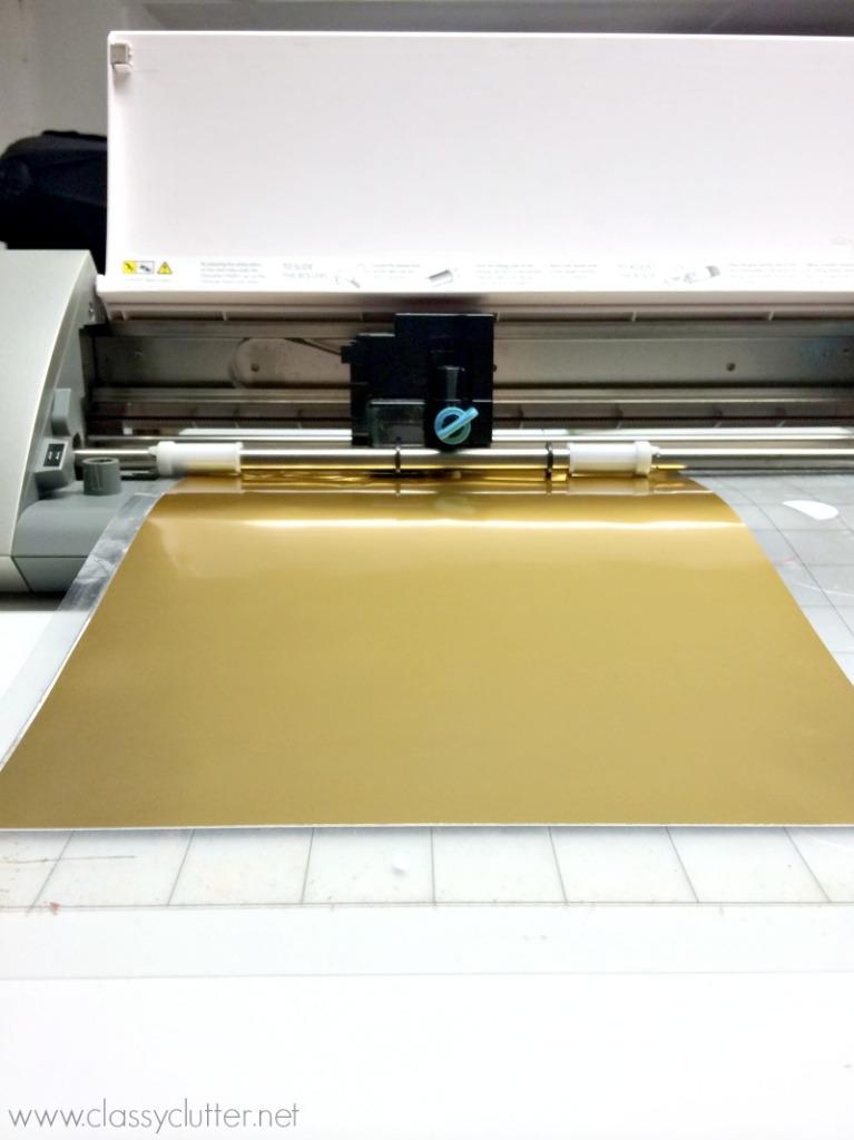 Gold Foil in Silhouette