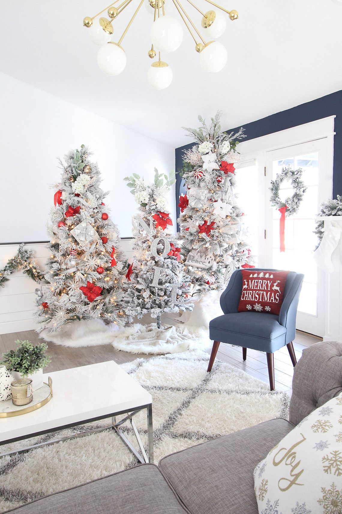 Classic Red Christmas Tree Decorating Ideas. Red Christmas Tree Ideas