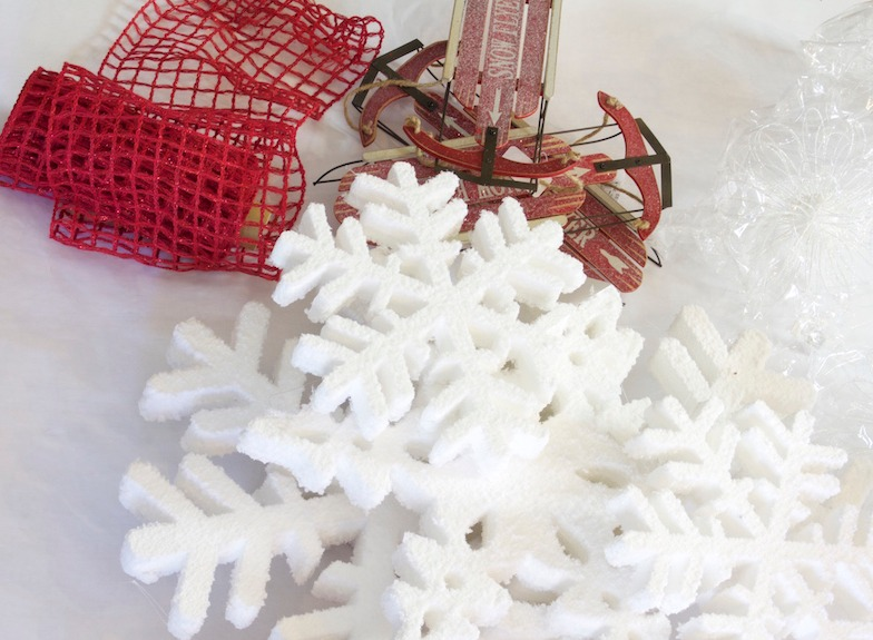 Snowman Christmas Tree Materials 2