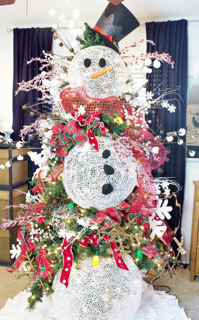 Snowman Christmas Tree Decoration Ideas