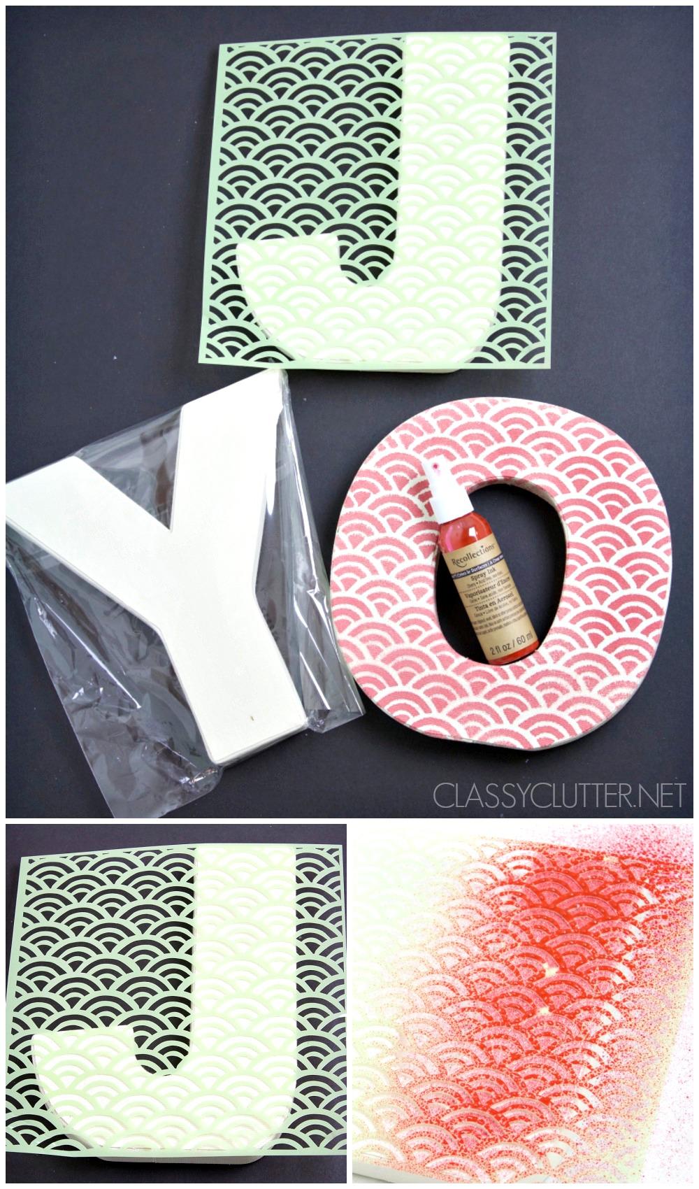 JOY letters instructions