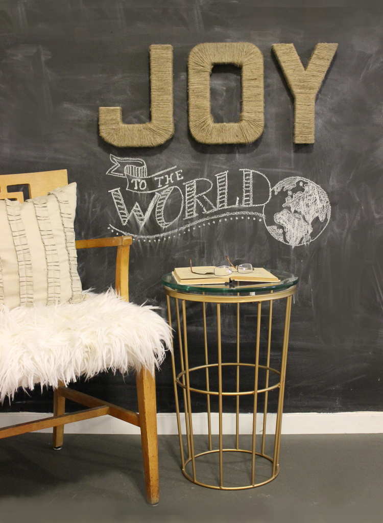Jute wrapped JOY letters
