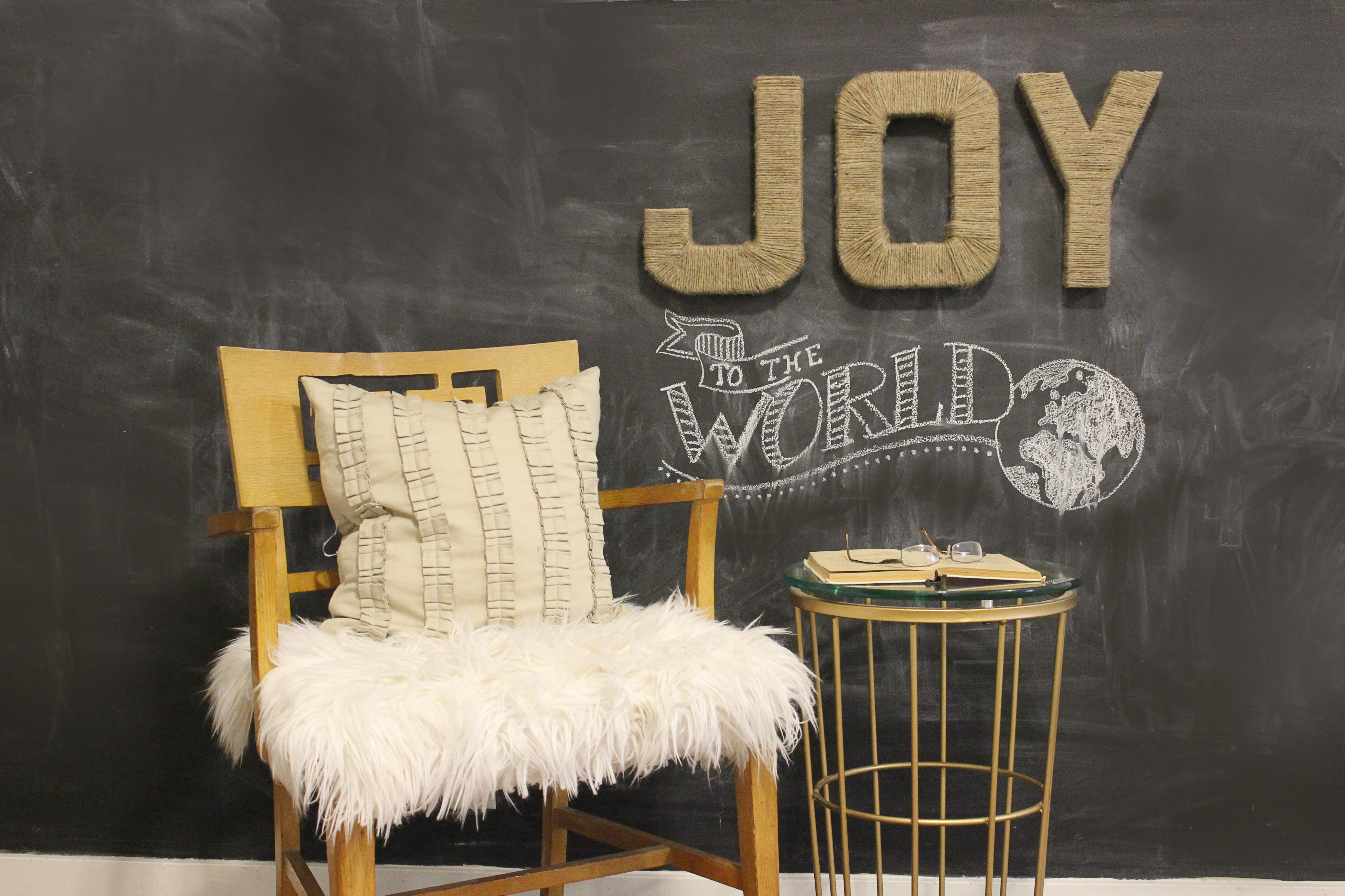Jute wrapped JOY letters_2