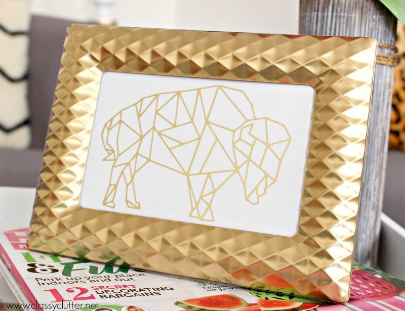 Make your own gold foil print - classyclutter.net