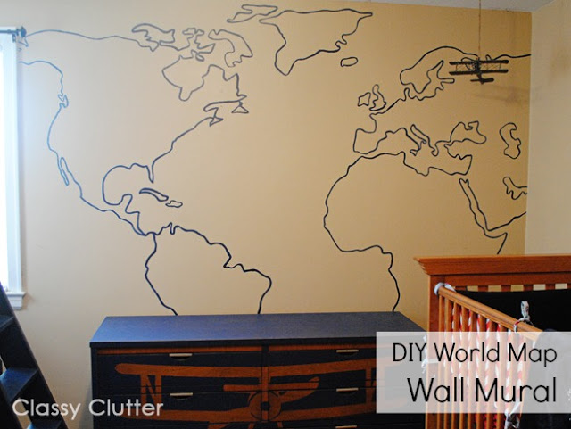 Map Mural with TEXT